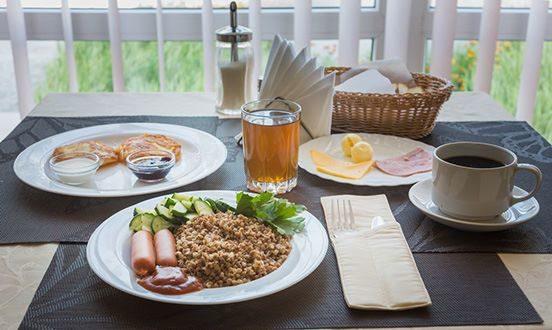 Завтрак в гостинице Спортивная
