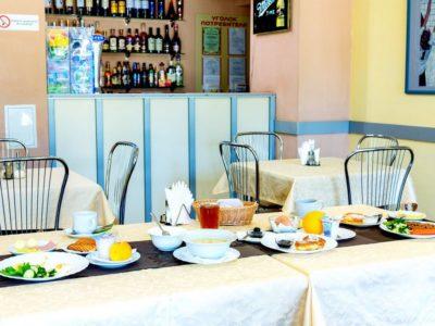 Завтрак в гостинице «Спортивная»
