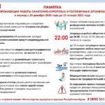Памятка по организации работы санаторно-курортных и гостиничных организаций в период с 20 декабря 2020 года до 15 января 2021 года